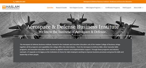 Of Tennessee Aerospace Mba Program by Aerospace Defense Business Institute Of