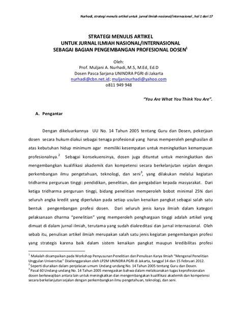 membuat contoh artikel strategi menulis artikel untuk jurnal ilmiah nasional