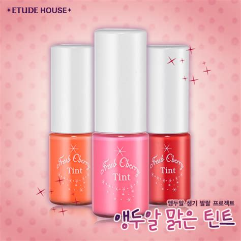 Lip Tint Etude House Indonesia etude house fresh cherry tint and pink swatch stella