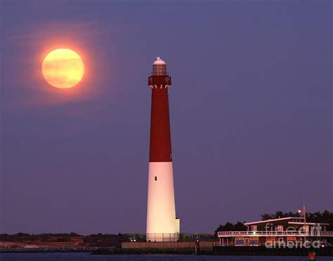Barnegat Light Nj by Moonrise Barnegat Lighthouse By S