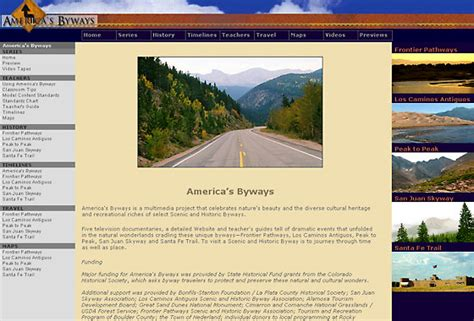 americas byways america s byways website skoubo graphics