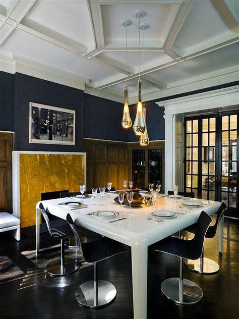 dark blue dining room get the romantic mood with dark blue