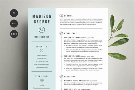 Artist Illustrator Cover Letter by Resume Cover Letter Template Resume Templates Creative Market