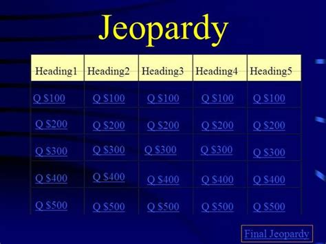 interactive jeopardy powerpoint template interactive tefl template quiz jeopardy 1