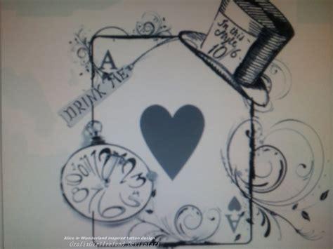 alice in wonderland tattoo design in inpired design by