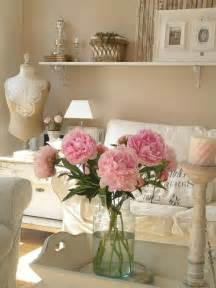 decorating home with flowers 37 enchanted shabby chic living room designs digsdigs