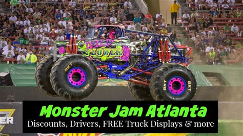 monster truck show atlanta free truck displays announced for monster jam atlanta