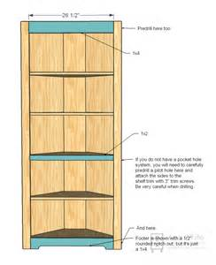 shelving unit plans white corner cupboard diy projects