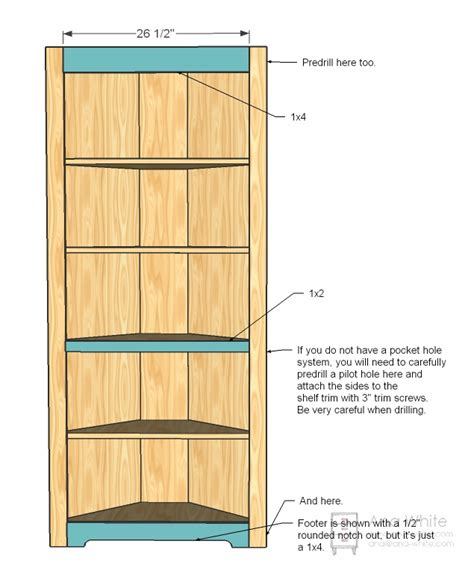 pdf diy corner bookshelf building plans craftsman