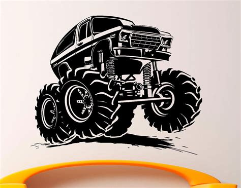 truck wall stickers truck wall decal vinyl sticker big car interior decor 3bmc ebay