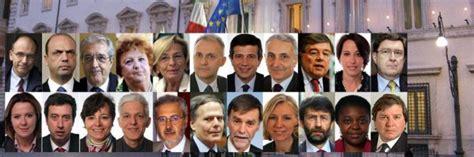 come si chiamano gli attuali presidenti della dei deputati ministri ecco tutti i nomi