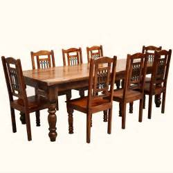 dining set large table rustic furniture solid wood large dining table  chair set