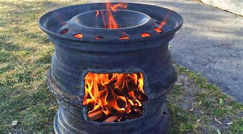 diy upcycled pit tire rims make for the best diy pits pits cars and outdoor
