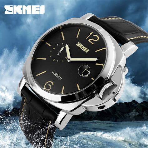 Jam Tangan Anti Air Original Skmei Casual Agm34 skmei jam tangan analog pria 1124cl black yellow
