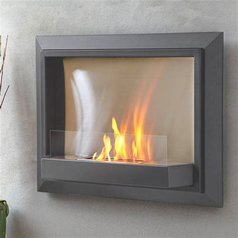 envision wall fireplace grey real touch of modern