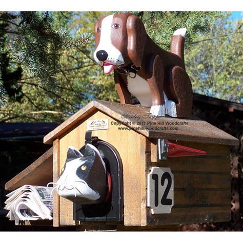 dog house mailbox pinehill woodcrafts animals pet house dog on top of doghouse woodendippity mailbox