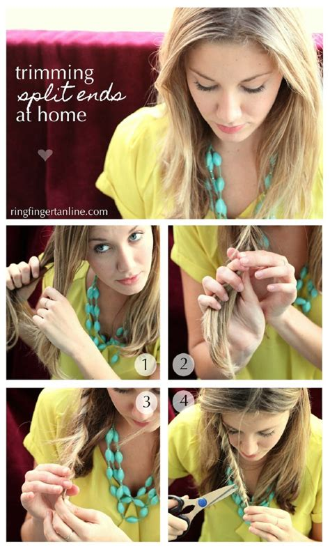 hair cutting ways for the ends 40 diy beauty hacks that are borderline genius page 2 of