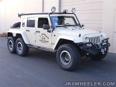 jeep wrangler 6x6 truck has a hemi v8 and guns