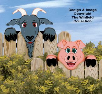 yard garden projects pig goat fence peekers wood