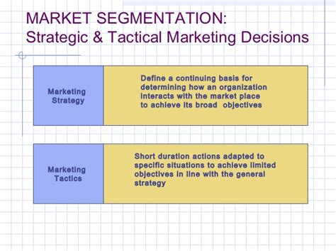 Market Segmentation Targeting And Positioning Mba Notes by Mf Strategic Marketing Market Segmentation Target Market