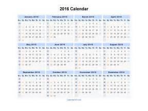 2016 calendar blank printable calendar template in pdf word excel