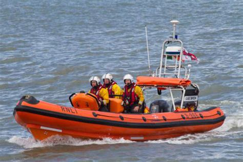 boat mechanic dublin skerries rnli launches to motor boat in difficulty
