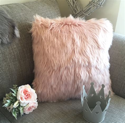 blush pink fur chair faux fur blush pink cushion of mine
