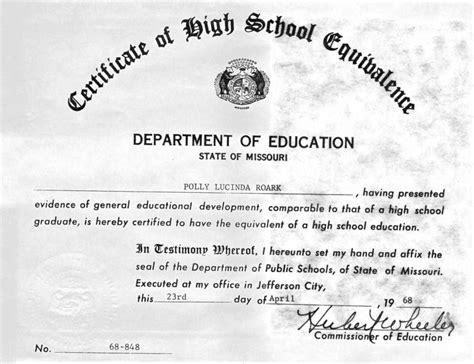 Free Fake Ged Certificate Template   Certificate234