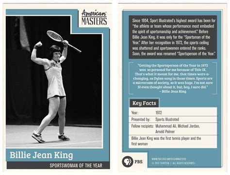 trading card billie jean king infographics billie jean king trading