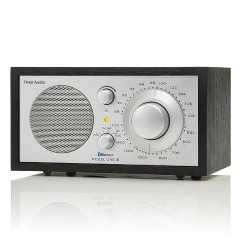 desk radio with bluetooth tivoli audio shop radio one bluetooth black silver