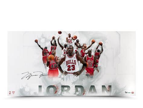 imagenes de jordan 1 al 23 michael jordan autographed 122345 jersey number photo
