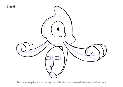 yamask pokemon coloring page step by step how to draw yamask from pokemon