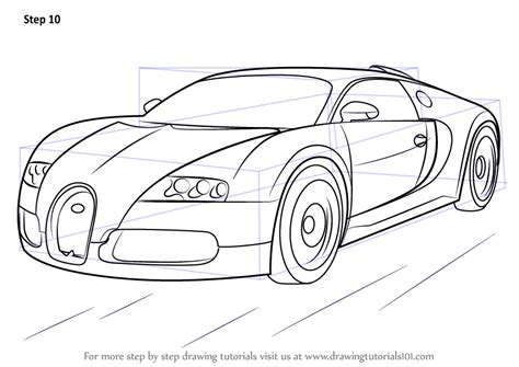 learn how to draw f1 car sports cars step by step learn how to draw bugatti veyron sports cars step by