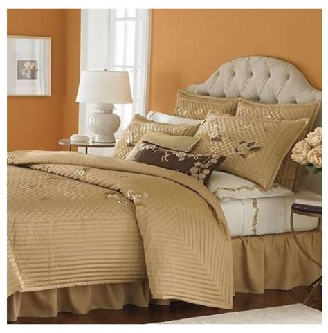 gold quilted coverlet martha stewart bedford flowers quilted coverlet full