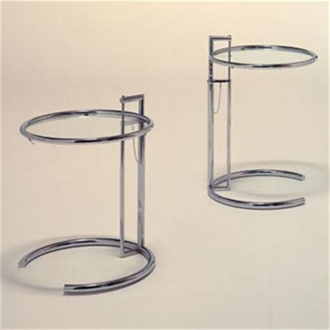 Contemporary Glass Dining Room Tables by Eileen Gray Adjustable Table E1027