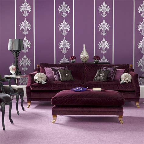 purple living room wallpaper pause for something pretty in purple in my