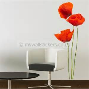 Poppy Wall Sticker Poppy Wall Stickers Uk Images