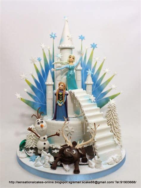 frozen snow theme sugarcraft figurines masterpiece frozen cake singapore luxury cake cake