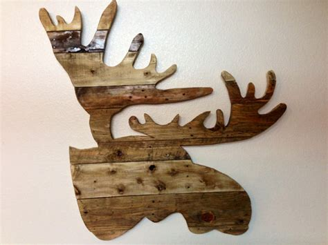 Moose Decor by Reclaimed Rustic Wood Bull Moose Sizes Rugged Moose Decor
