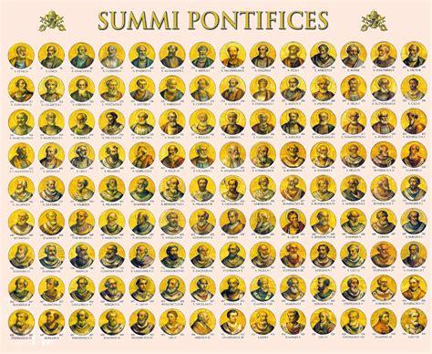 nombres de los papas de la iglesia catolica nombres de todos los papas catolicos los papas se