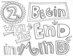 Seven Habits Habit One Proactive Coloring Pages Coloring Pages 7 Habits Coloring Pages