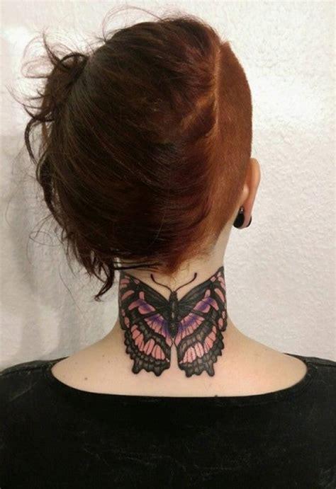 neck tattoo elegant 63 beautiful neck butterfly tattoos