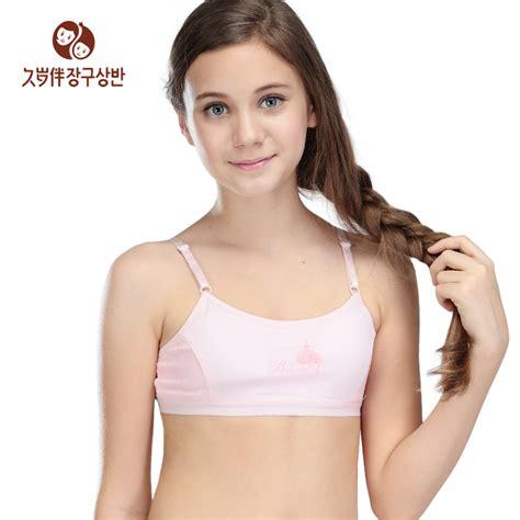Limited Set Bra Celana Sport 7165 2015 child a cup bra with adjustable shoulder wireless wear for