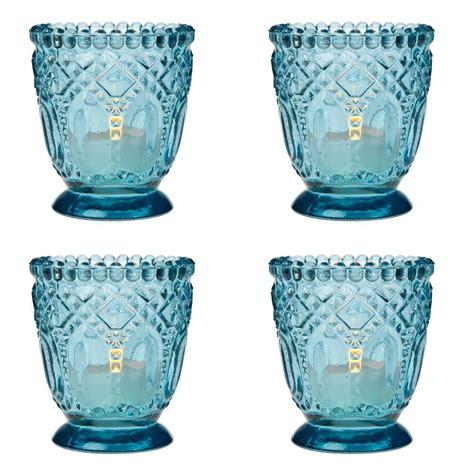 vintage tea light holders glass candle gift set vanilla tea 4 vintage hobnail faceted glass tea light candle holder
