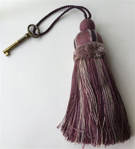 tassel large purple mauve and gray 10 3 4 home decor