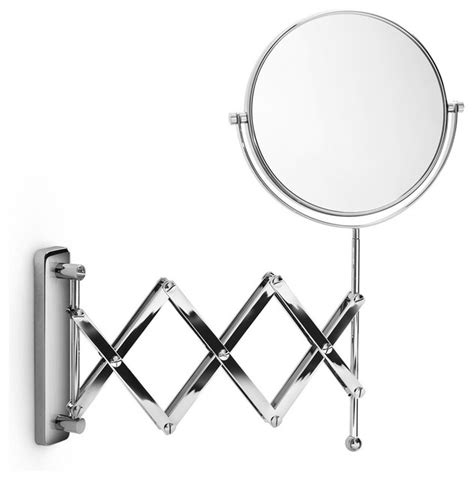 magnifying bathroom mirrors mevedo polished chrome 3x magnifying mirror contemporary