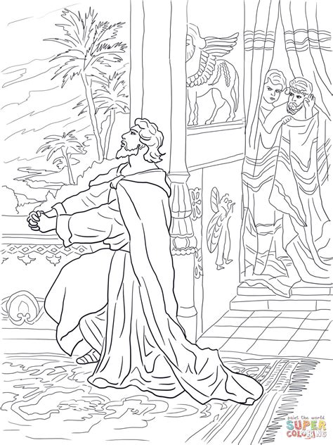 king belshazzar coloring pages daniel praying to god coloring page free printable