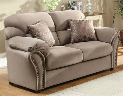microfiber sofa sets homelegance furnishing valentina brown microfiber sofa set