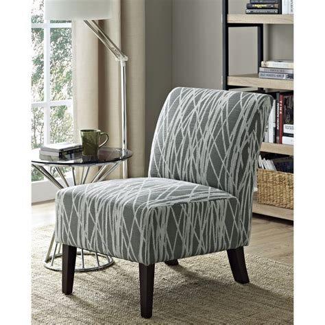 Gray And White Accent Chairs by Accent Chair In Gray And White Axcchr 008 G
