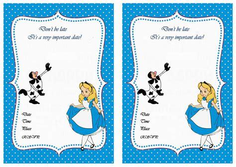alice in wonderland birthday invitations birthday printable